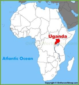 Large detailed map of Uganda