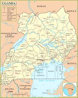 Uganda maps maps of uganda uganda political map sciox Gallery