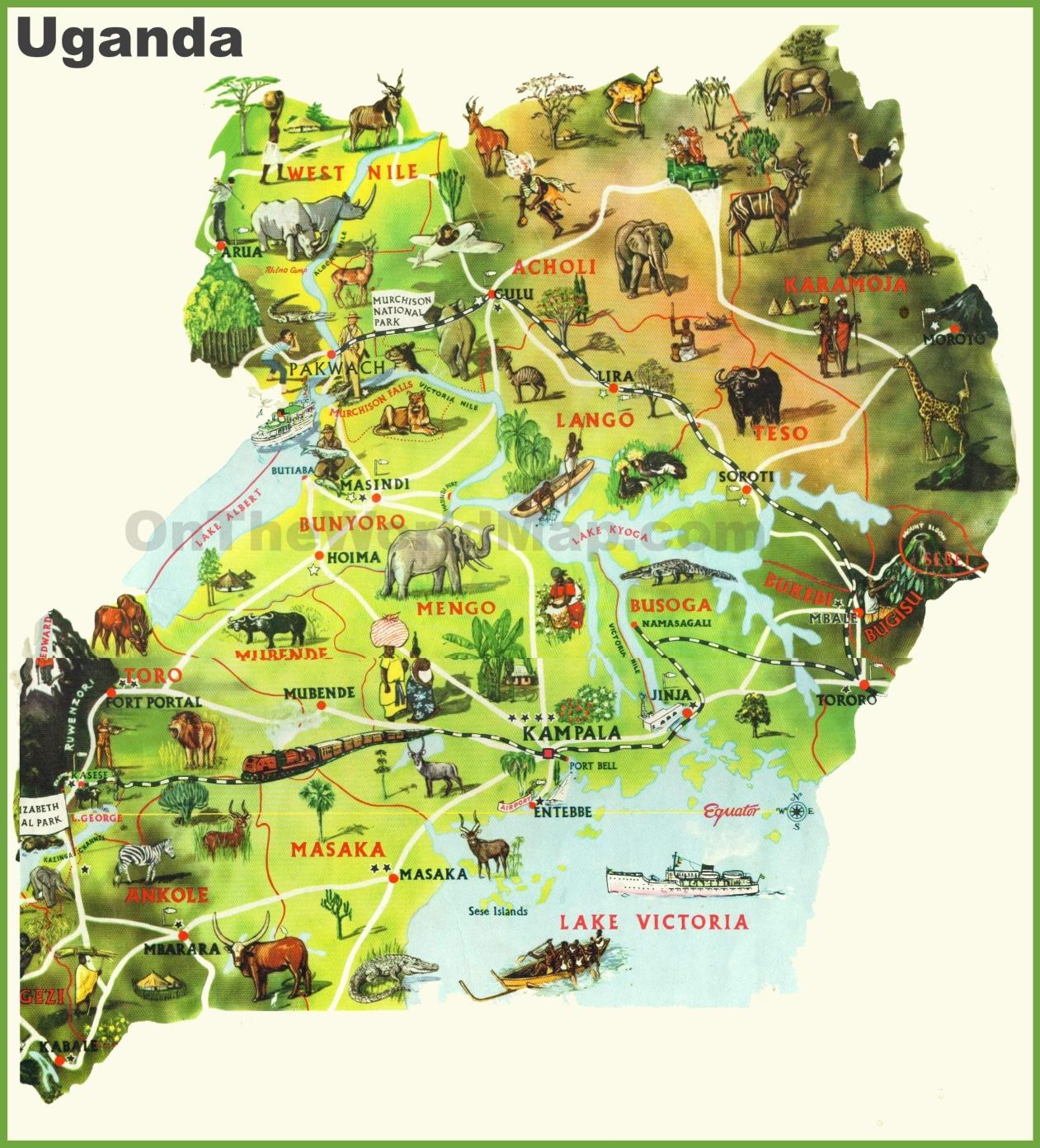 Uganda Maps | Maps of Uganda