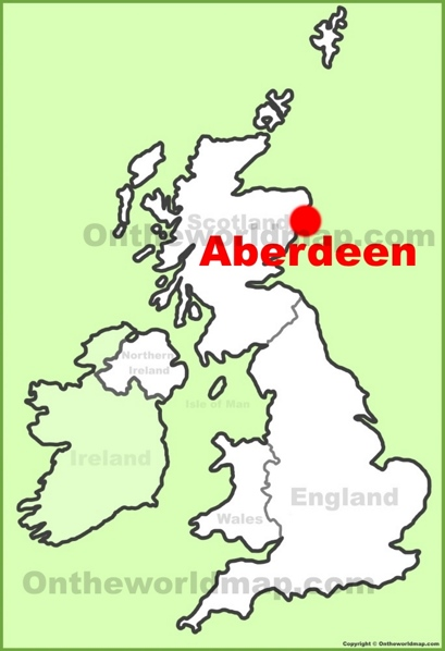 Aberdeen Location Map