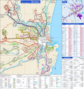 Aberdeen transport map