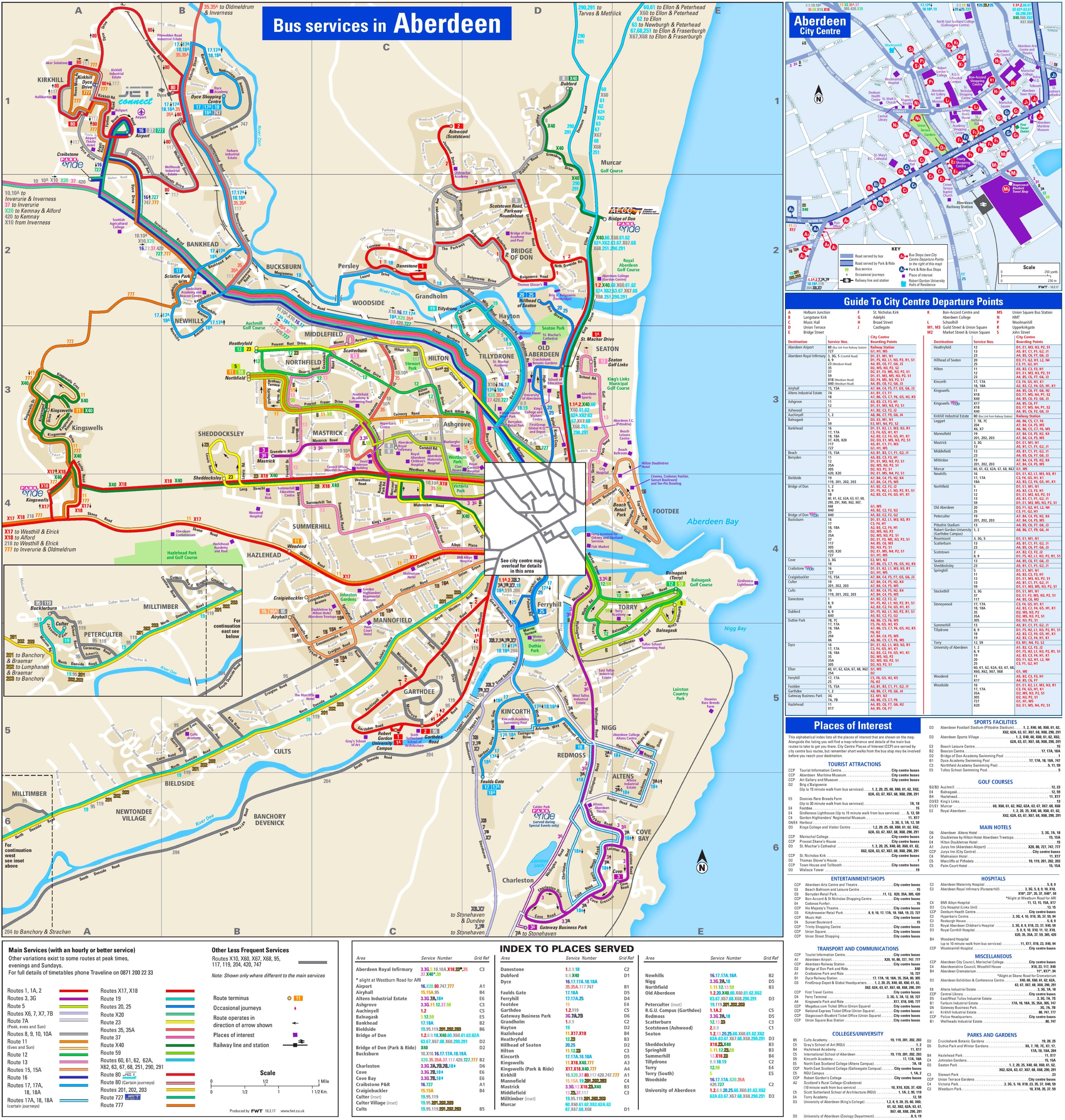 Aberdeen transport map