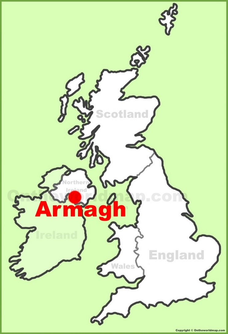 Armagh location on the UK Map