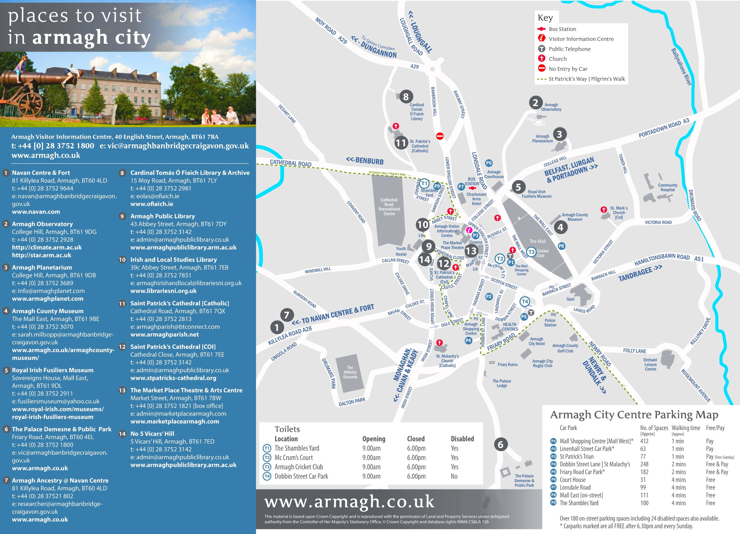 Armagh sightseeing map