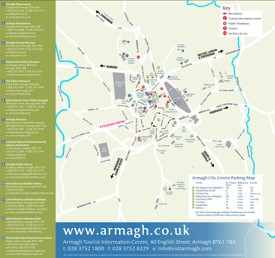 Armagh tourist attractions map
