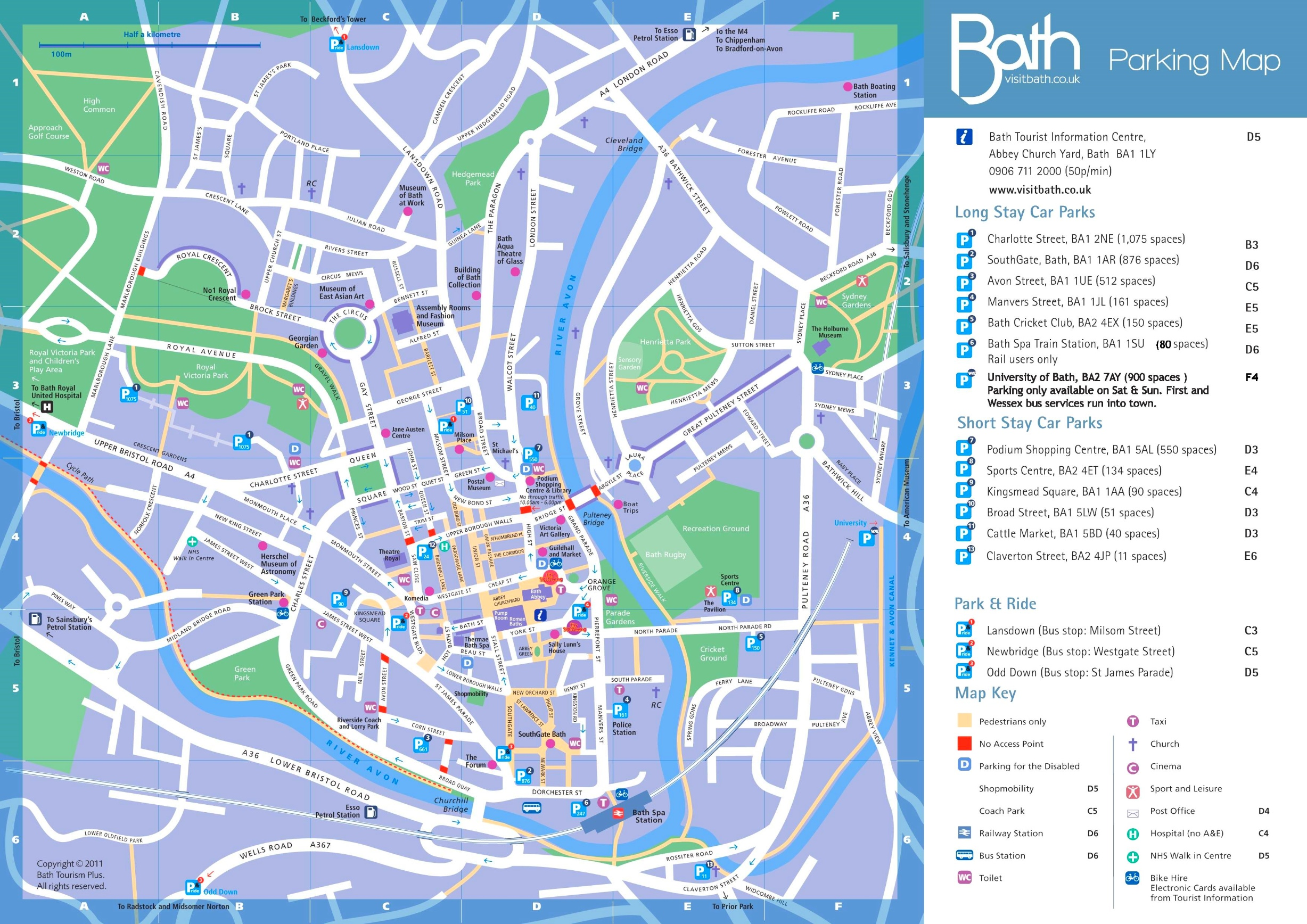 Bath Parking Map