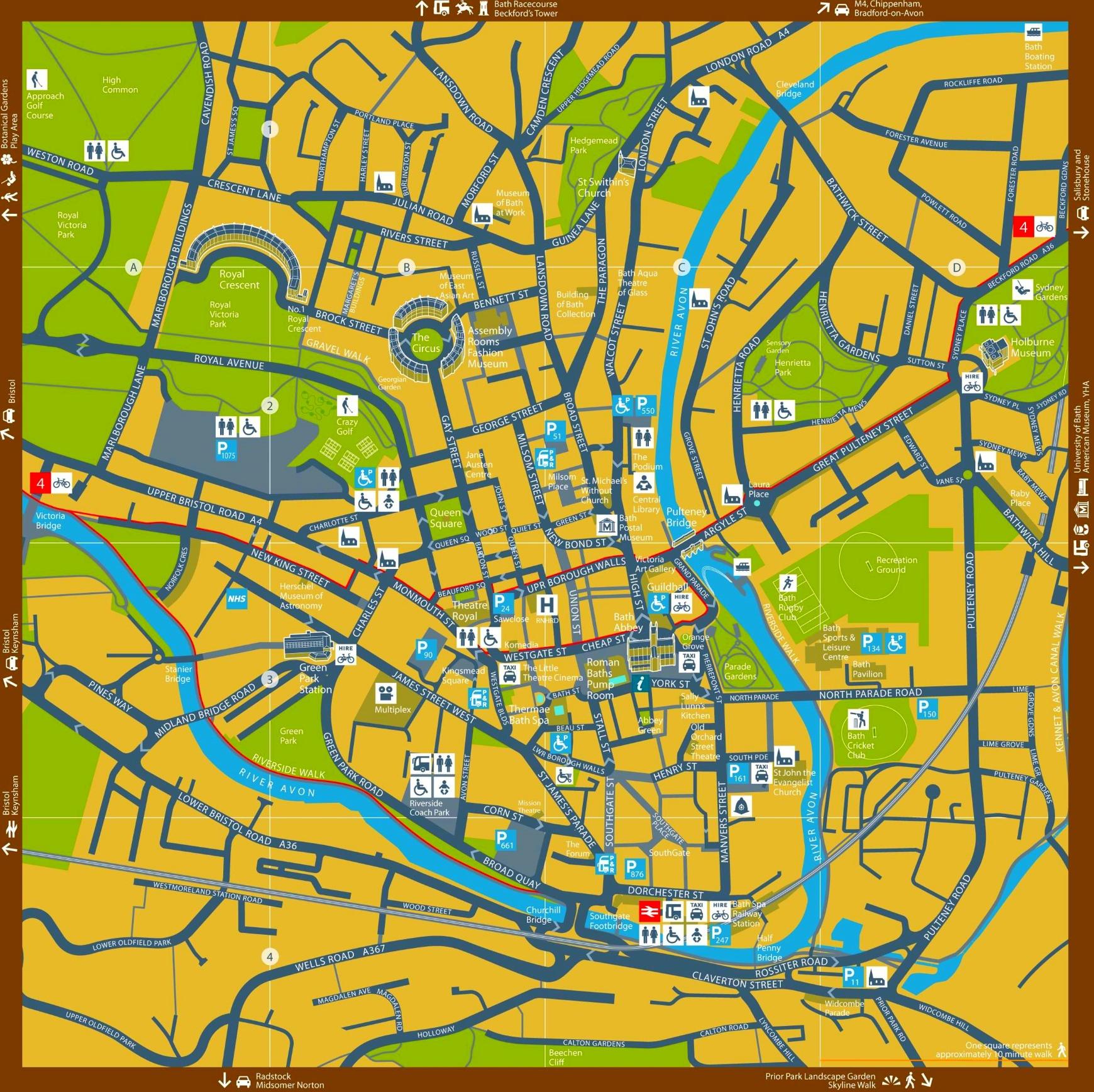 bath tourist map
