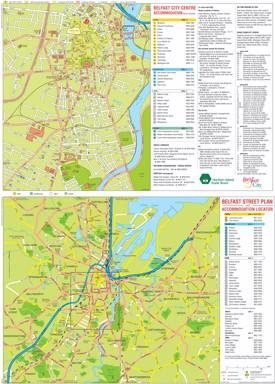 Belfast hotel map