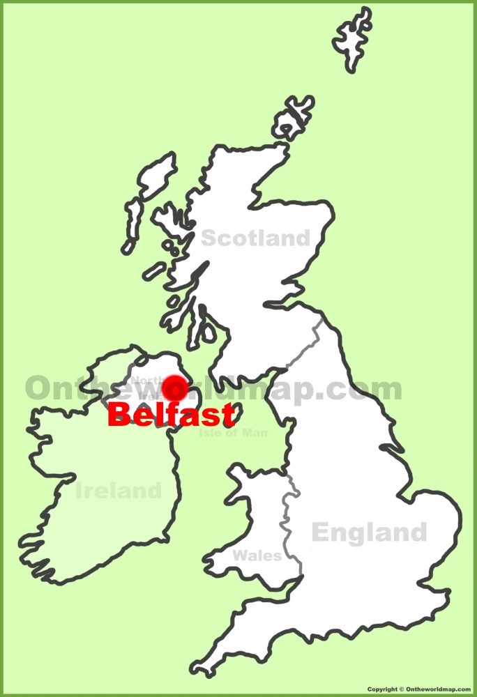 Belfast Location On The Uk Map