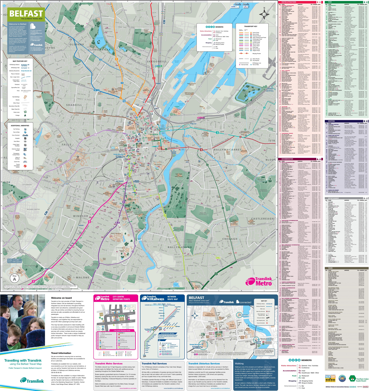 Belfast tourist attractions map