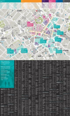Birmingham shopping map