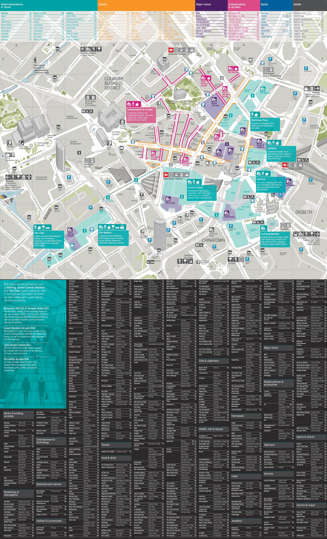 Birmingham shopping map