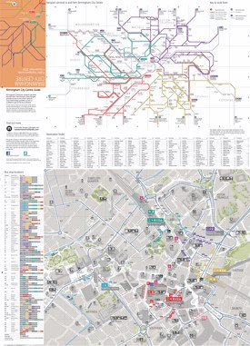 Birmingham transport map