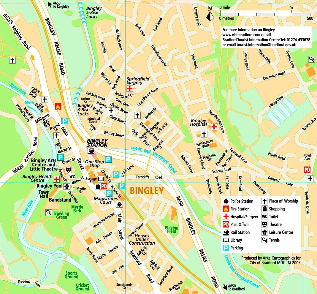 Bingley tourist map