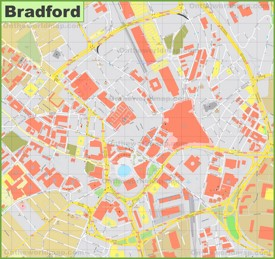 Bradford city center map