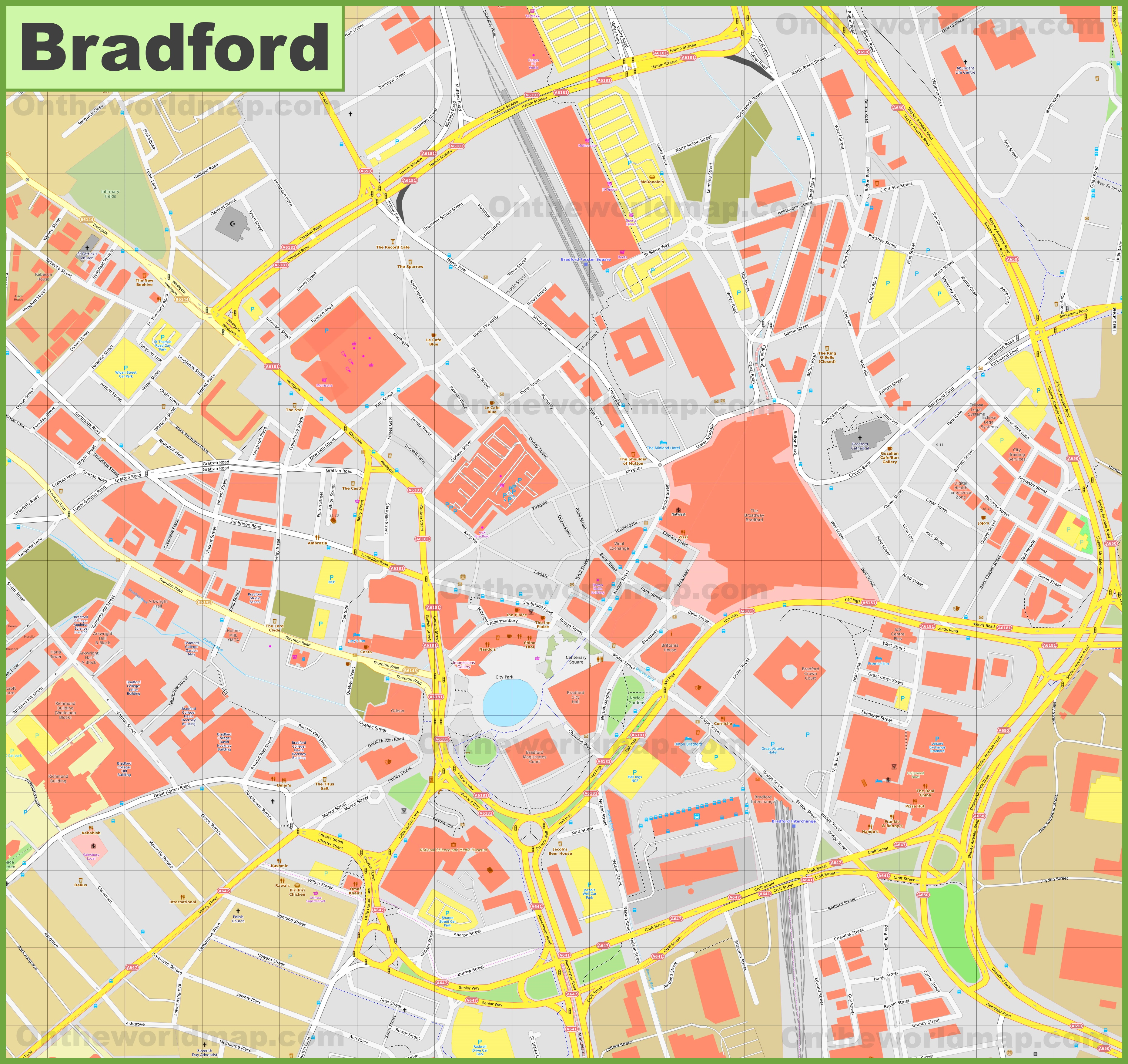 Bradford Maps UK Maps of Bradford