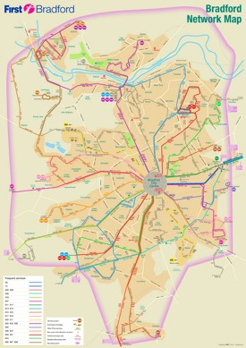 Bradford transport map