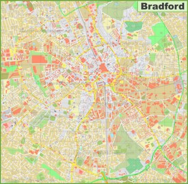 Detailed map of Bradford