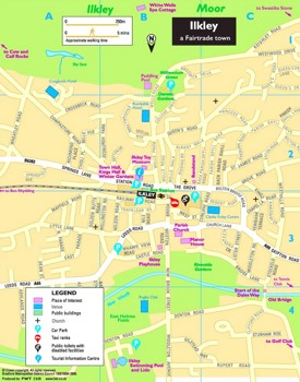 Ilkley tourist map