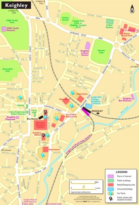 Keighley tourist map