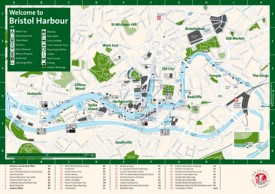 Bristol harbour map