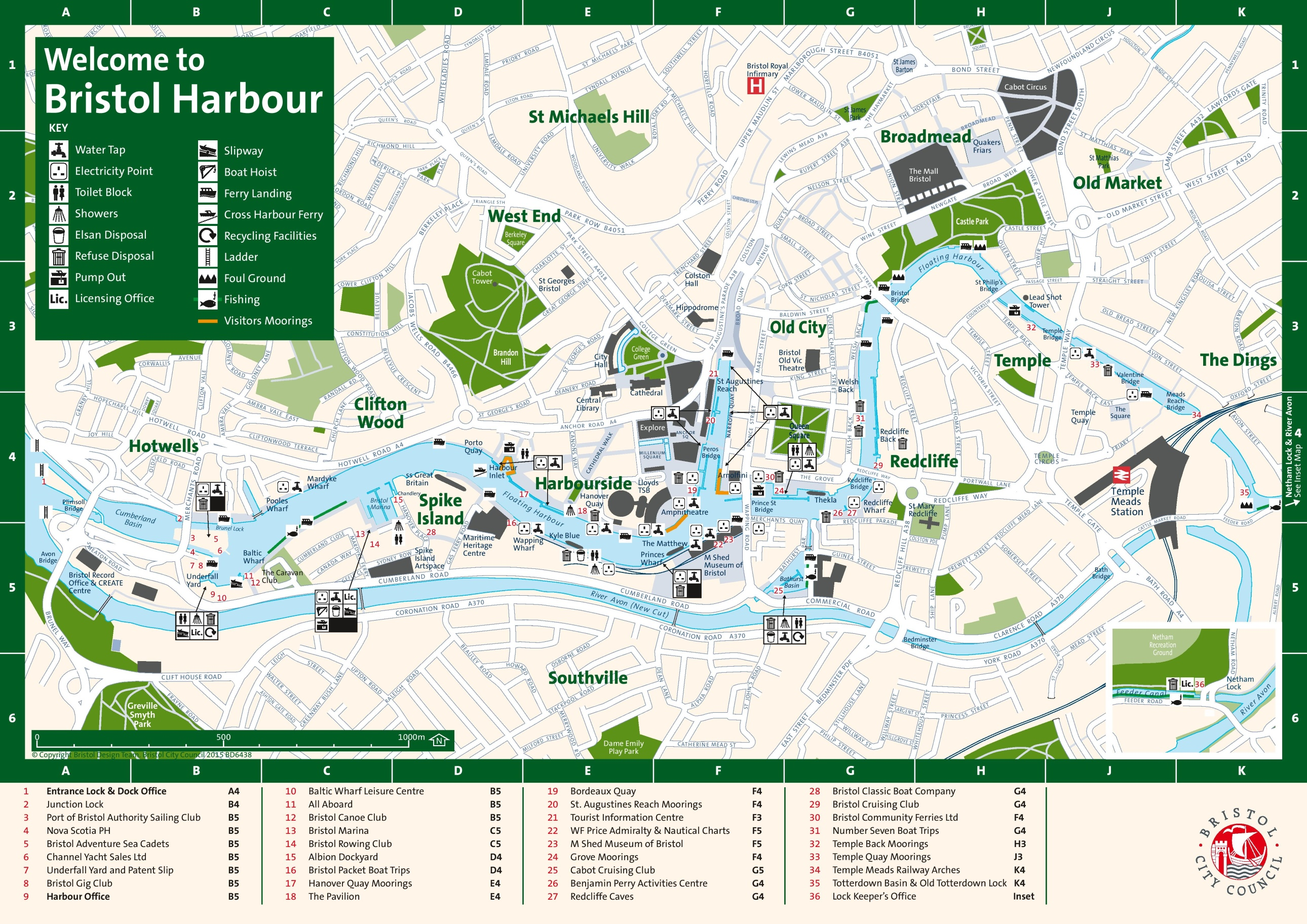 Map Of Uk Bristol.Bristol Harbour Map