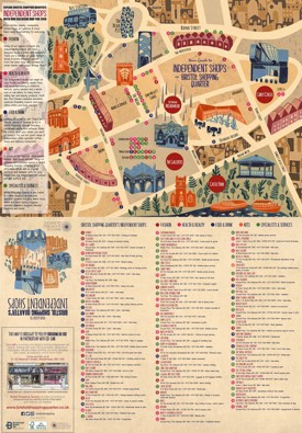 Bristol shopping map