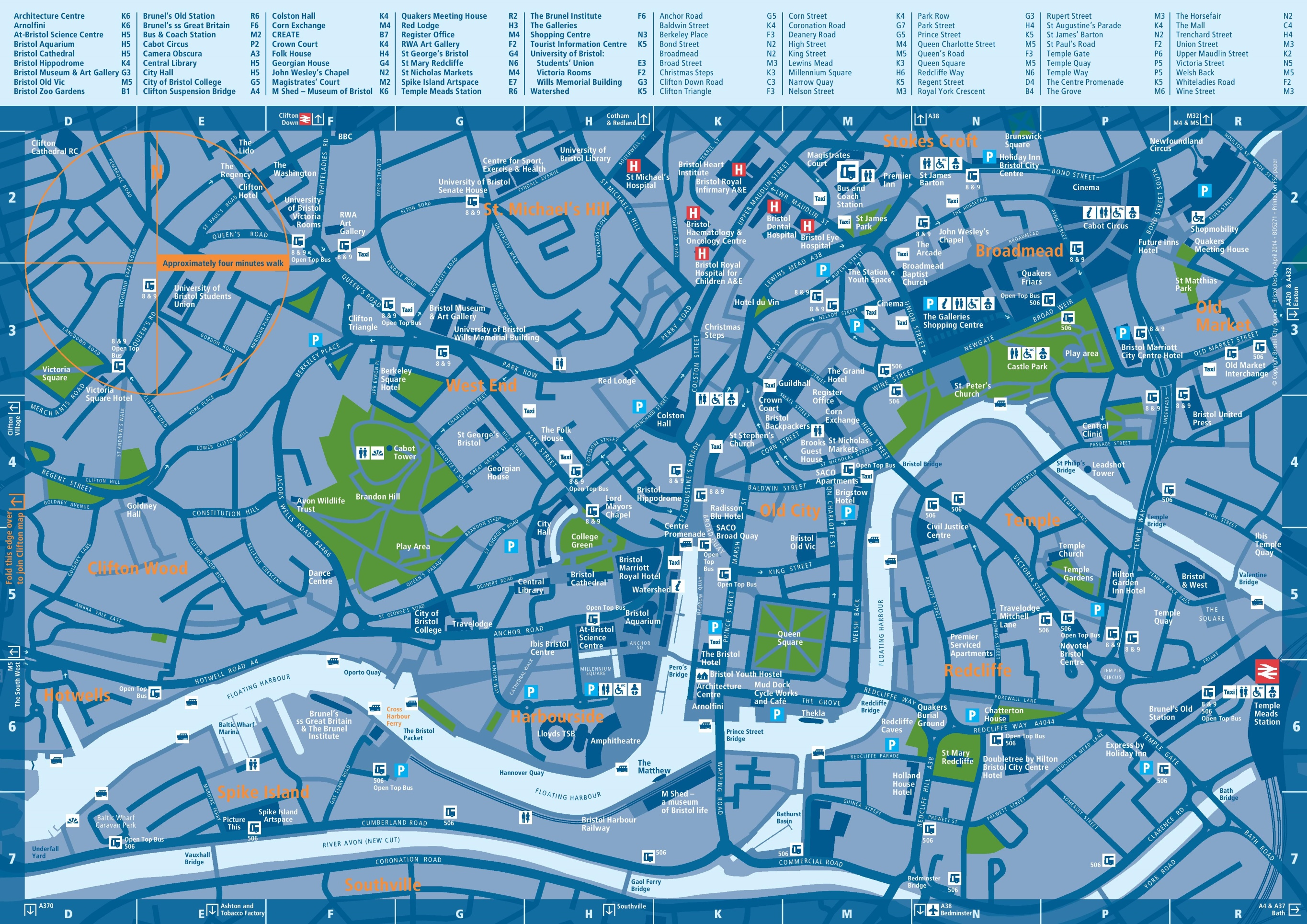 Map Of Bristol Bristol tourist attractions map Map Of Bristol