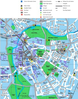 Cambridge tourist map