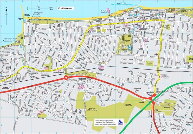 Herne Bay tourist map