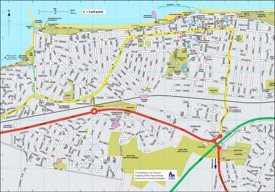 Herne Bay tourist map