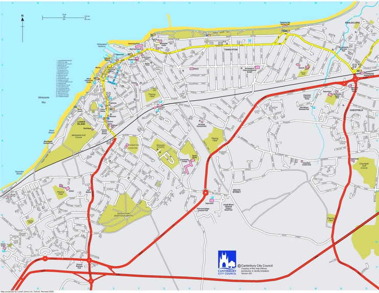 Whitstable tourist map