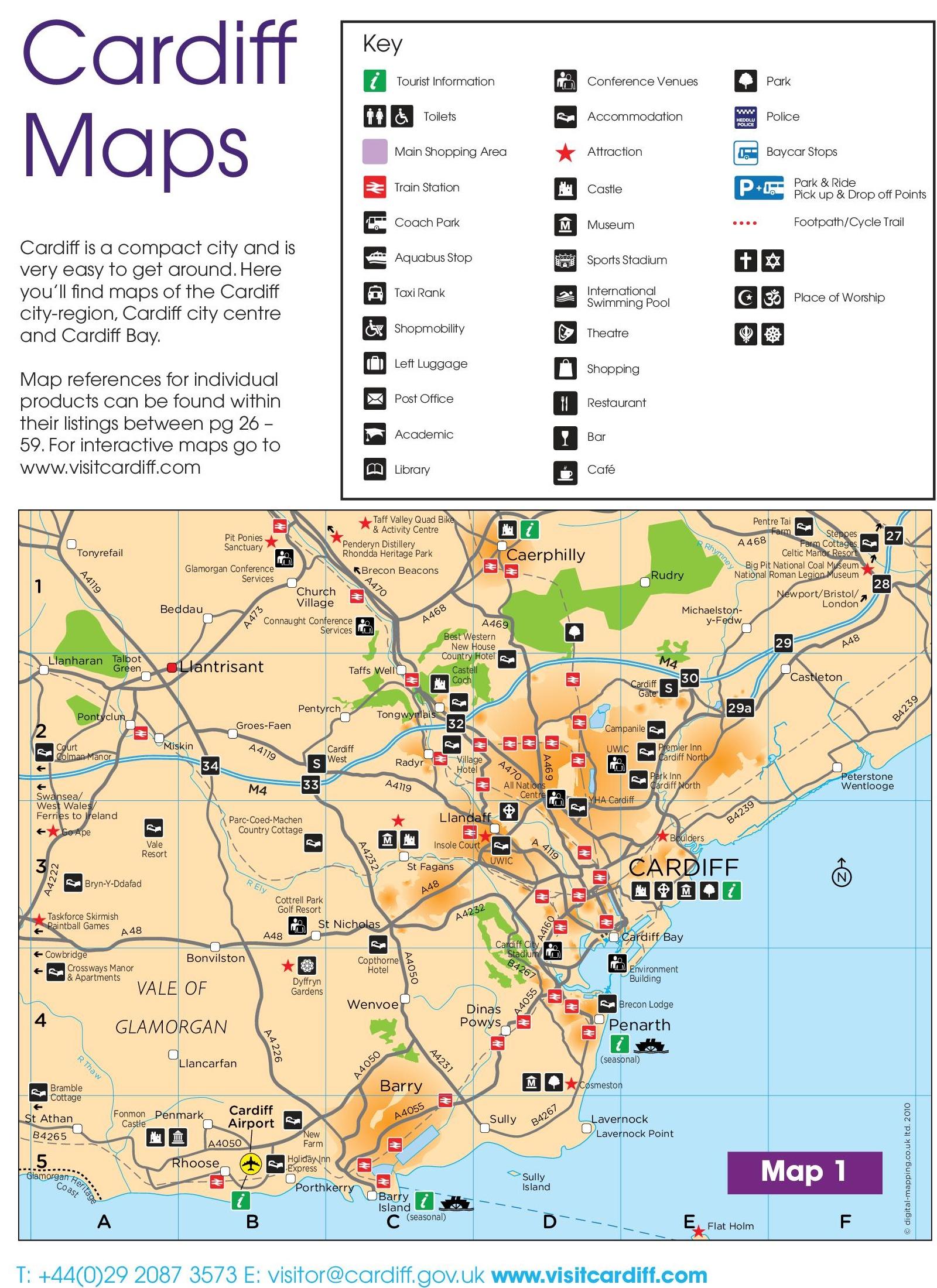 Cardiff area map