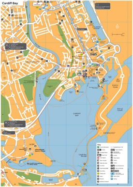Cardiff Bay map