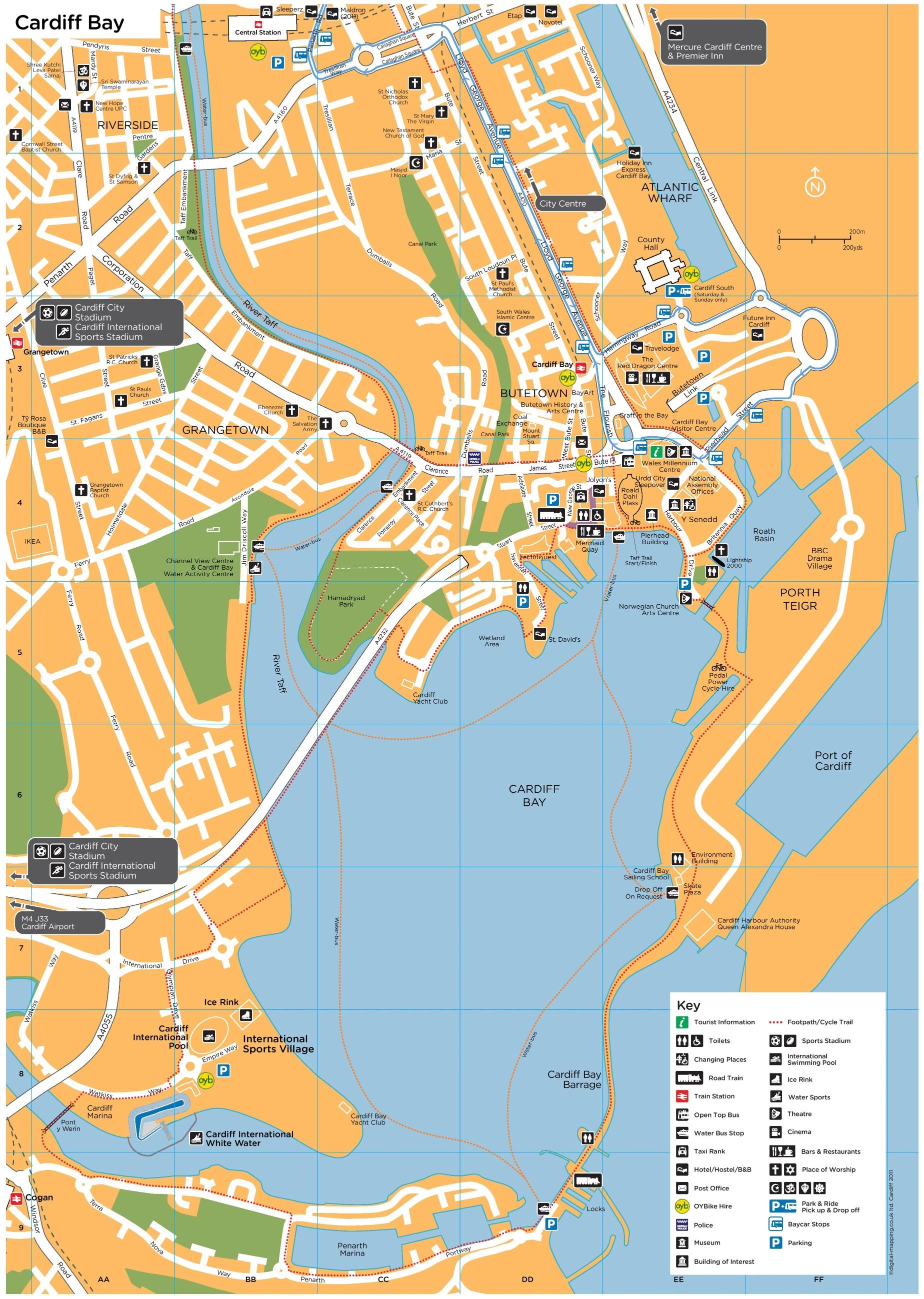 Cardiff Maps UK Maps of Cardiff