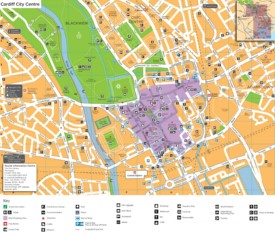 Cardiff city center map