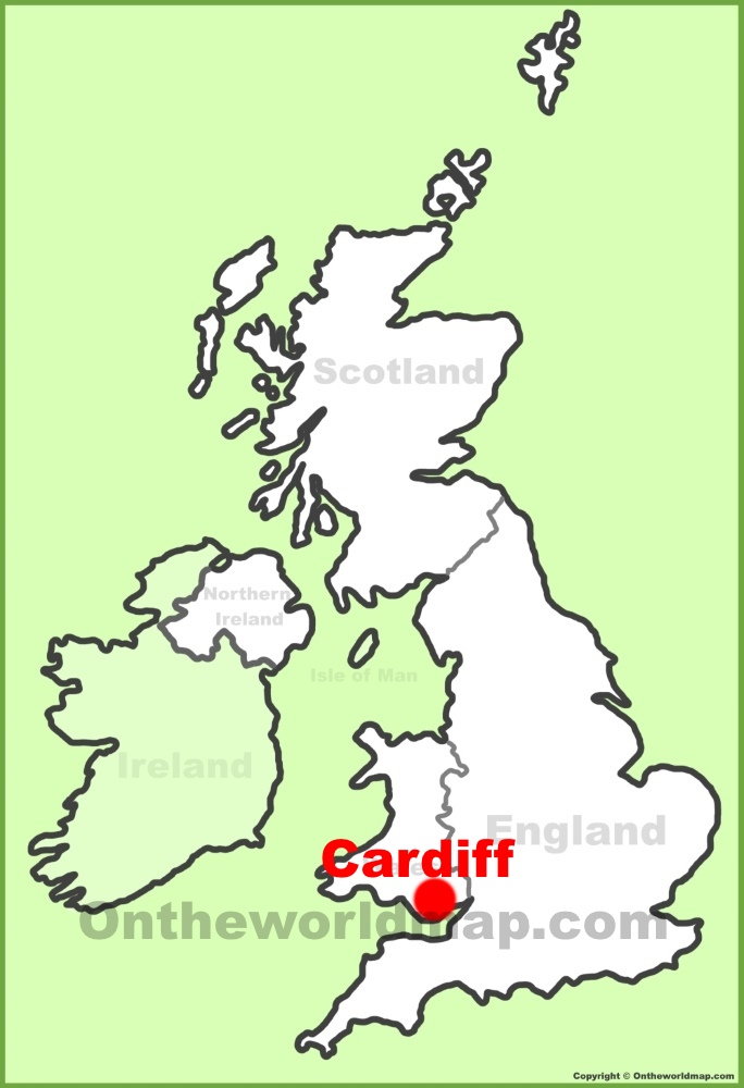 Cardiff Location On The Uk Map