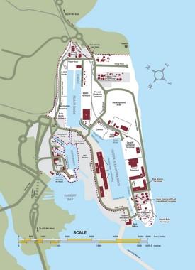 Cardiff port map
