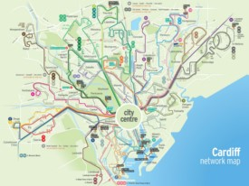 Cardiff transport map