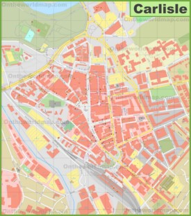 Carlisle city center map