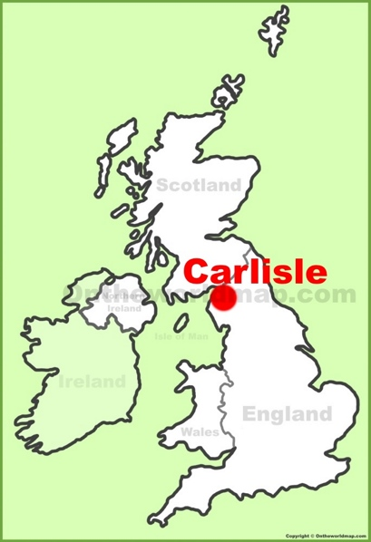 Carlisle Location Map