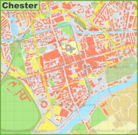 Chester city center map