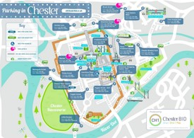 Chester parking map