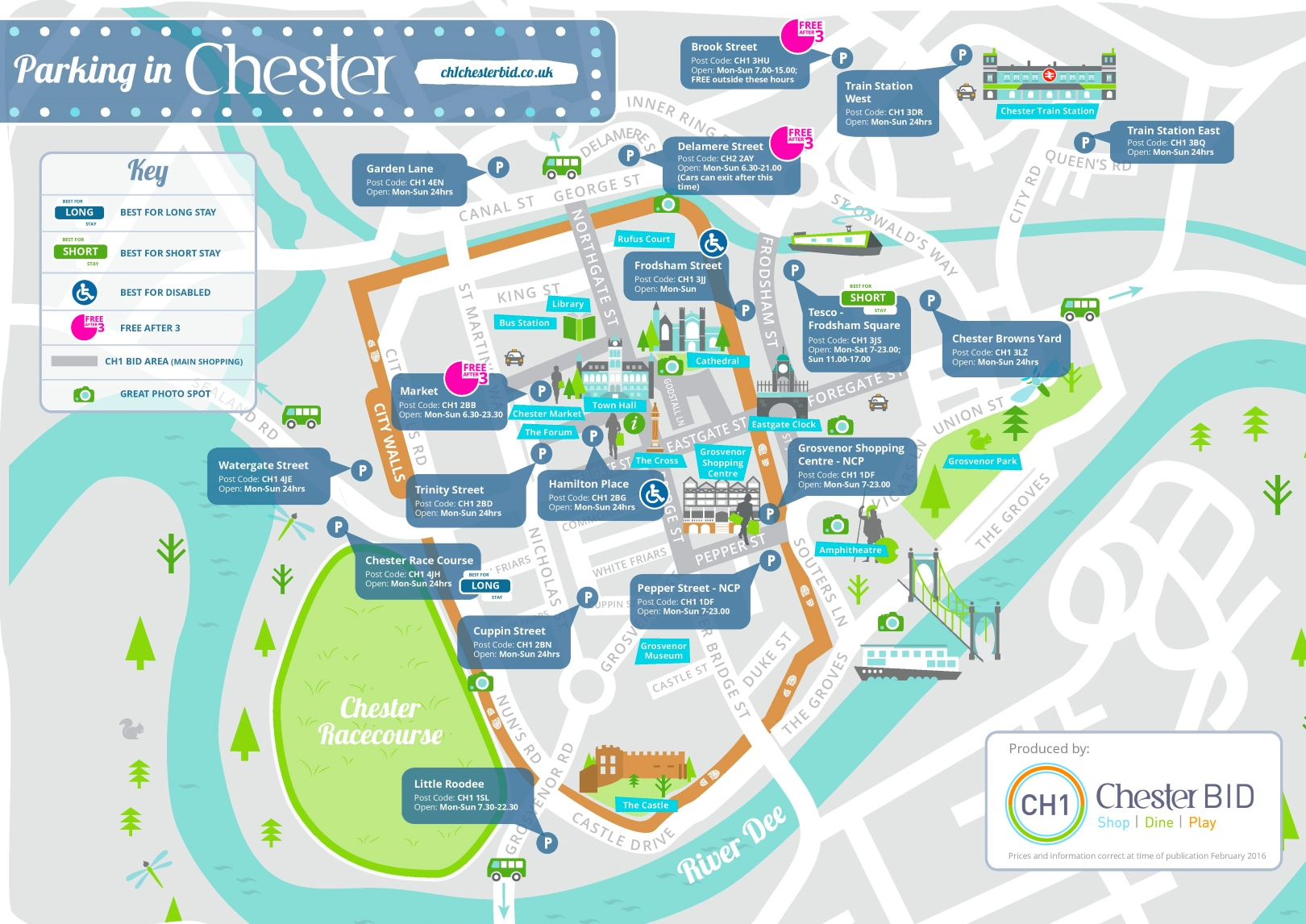 Uk Parking Map Chester parking map