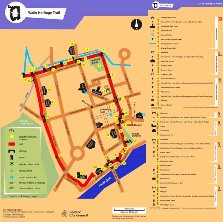Chester walls trail map