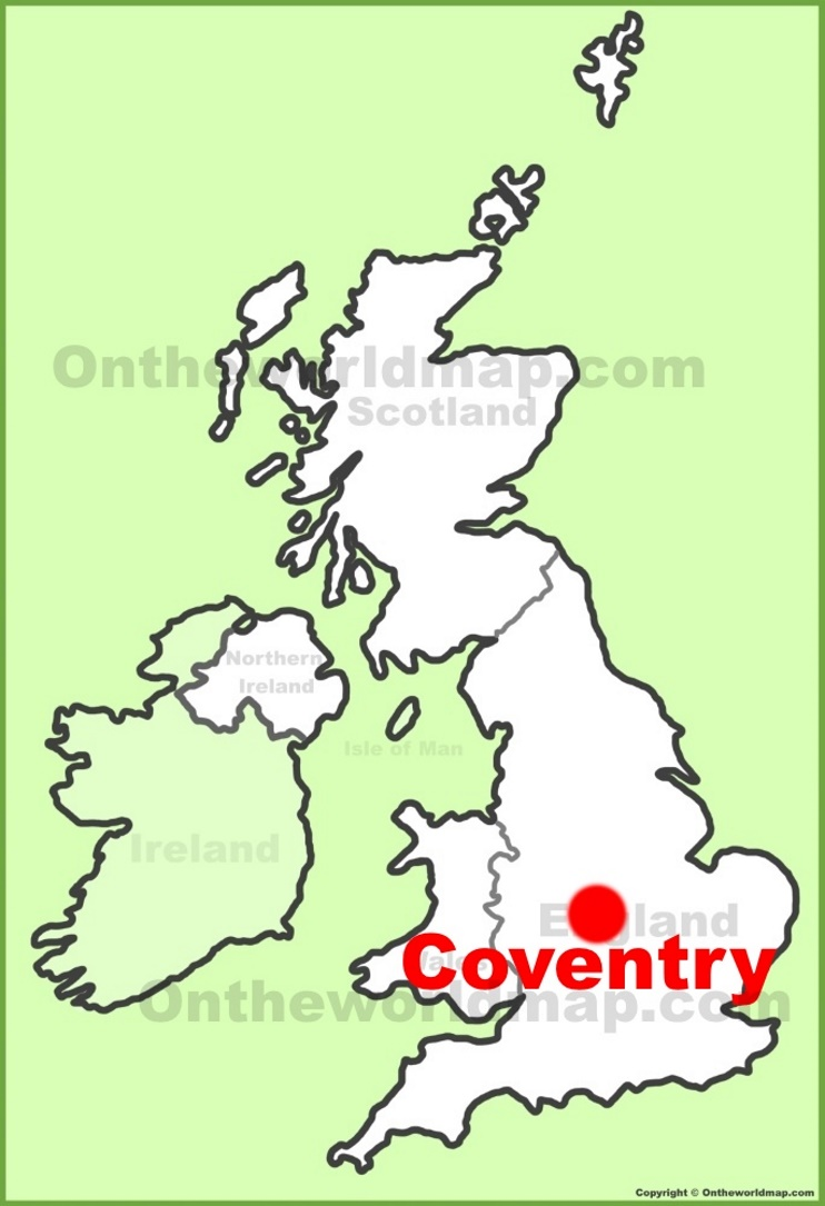 Coventry location on the UK Map