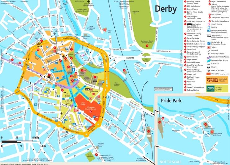 Derby tourist map