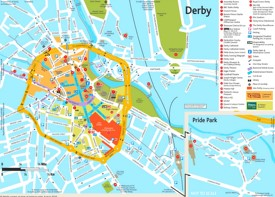 Derby tourist map