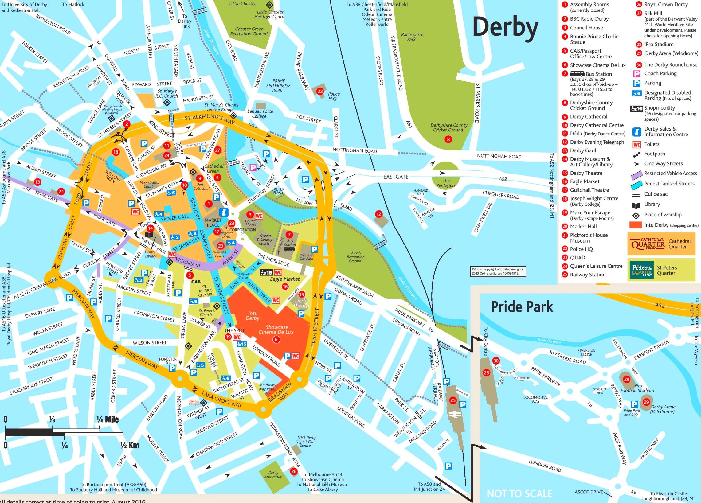 Map Of Uk Derby.Derby Tourist Map