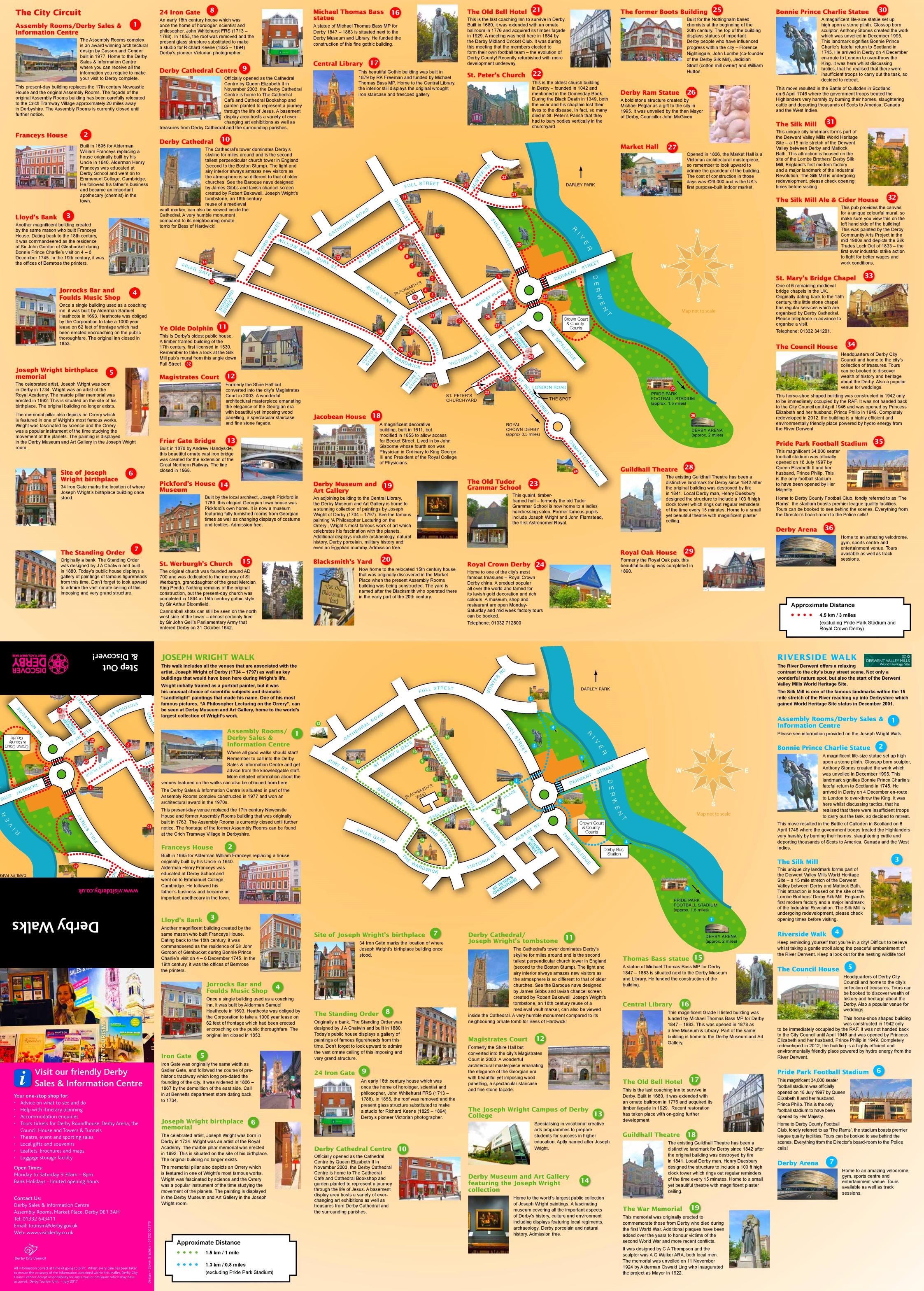 Derby walks map